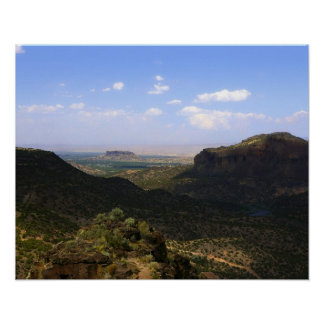 White Rock Canyon Lookout Poster