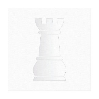 White rock chess piece canvas print