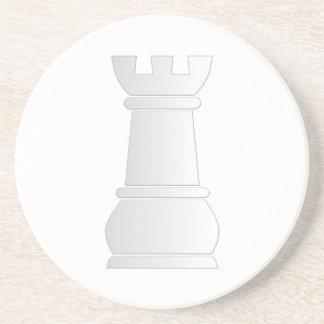 White rock chess piece drink coaster