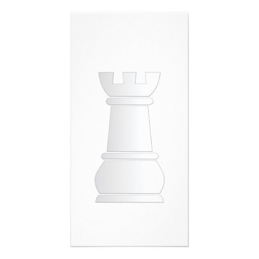 White rock chess piece picture card