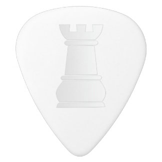 White rock chess piece white delrin guitar pick