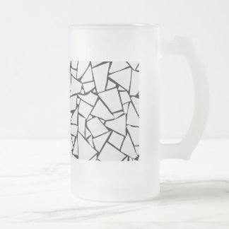 White Rock Stone Frosted Glass Beer Mug