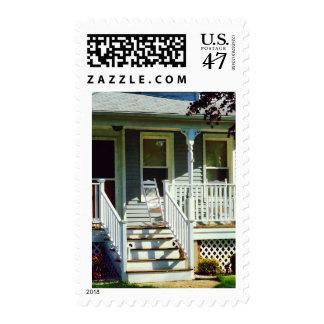 White Rocking Chairs Postage Stamp