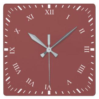 White Roman Numbers Square Clock Add Photo