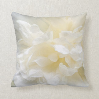 White Romantic Rose Pillow