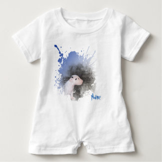 White Romper Baby Blue Bull Terrier puppy