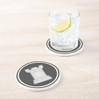 White Rook Chess Piece Coasters