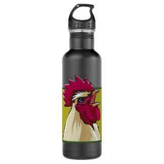 White Rooster 24oz Water Bottle