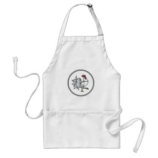 White Rooster - Fish Prawn Crab Collection Adult Apron