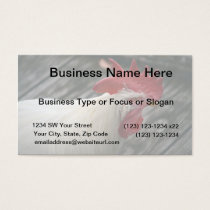 white rooster head view business card