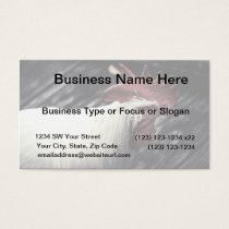 white rooster head vintage look business card