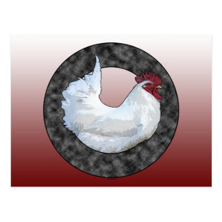 White Rooster Postcard