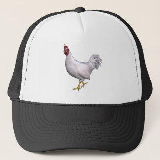 White Rooster Trucker Hat