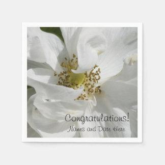 White Rosa Wedding Paper Napkin