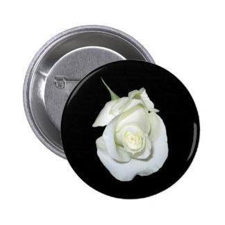 White Rose #1 2 Inch Round Button