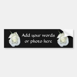 White Rose #1 Car Bumper Sticker