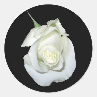 White Rose #1 Classic Round Sticker