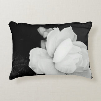 White Rose Accent Pillow
