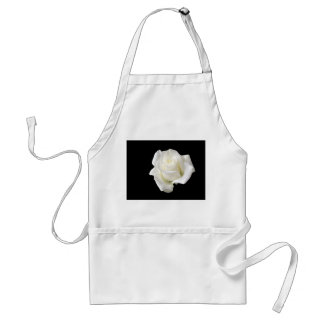 white rose adult apron