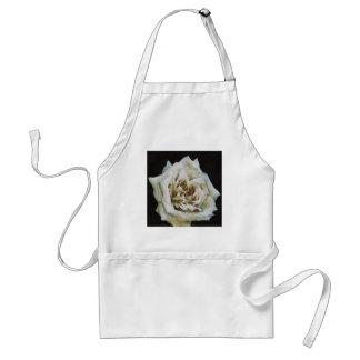 White Rose Adult Apron
