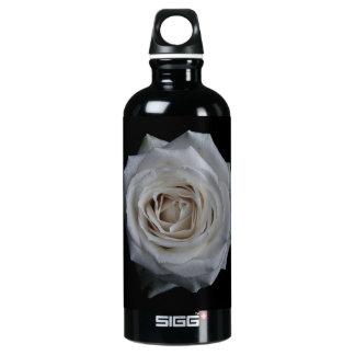White rose aluminum water bottle