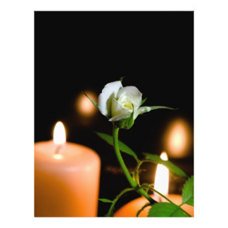 White rose and candle flyer