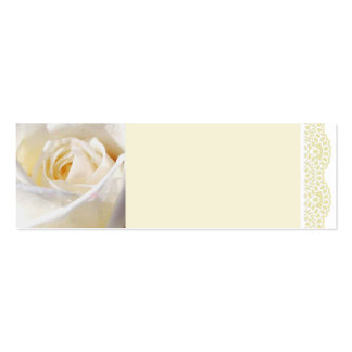 White Rose and Lace Double-Sided Mini Business Cards (Pack Of 20)