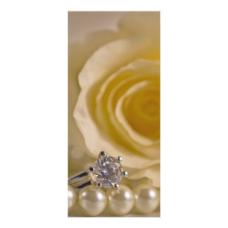 White Rose and Pearls Wedding Program