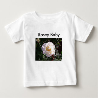 White Rose and Rose Bud Photograph Baby T-Shirt