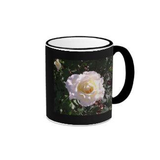 White Rose and Rose Bud Photograph Ringer Mug