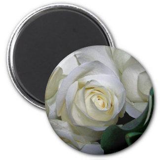 White Rose & Baby breath flowers_ Refrigerator Magnet