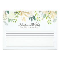 White Rose | Baby Shower | advice and wishes Card