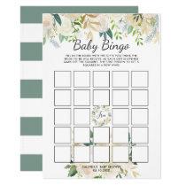 White Rose | Baby Shower Bingo Game Card