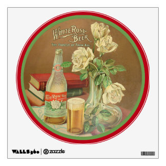 White Rose Beer Wall Sticker