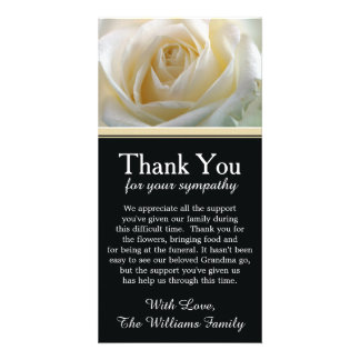 White Rose Bereavement Sympathy Thank You Card Picture Card