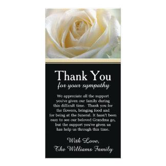 White Rose Bereavement Sympathy Thank You Photo Card