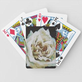 White Rose Bicycle Playing Cards