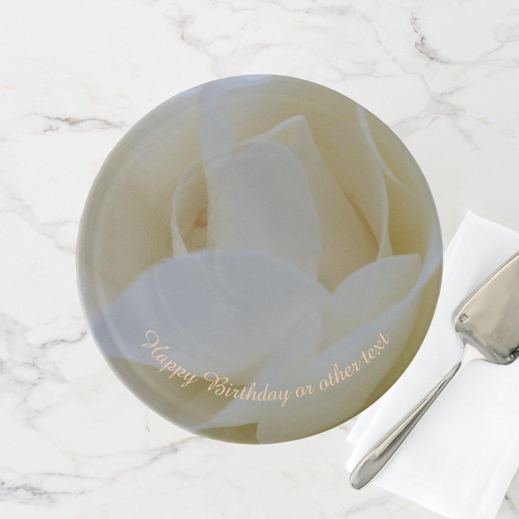 White Rose Birthday Cake Stand