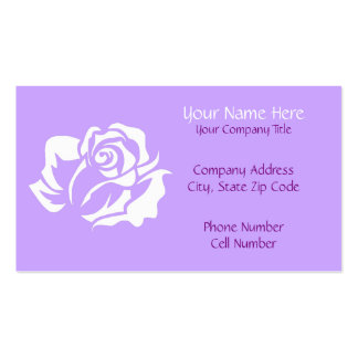 White Rose Bloom Customizable Business Card