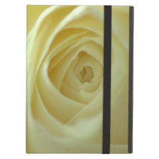 white rose blossom iPad case