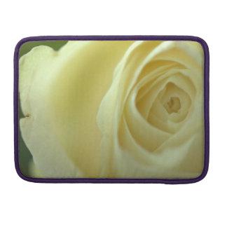 white rose blossom MacBook pro sleeve