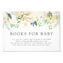 White Rose Bouquet | Baby Shower | Books for Baby Card