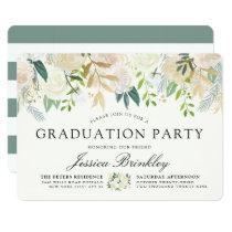 White Rose Bouquet | Graduation Party Card