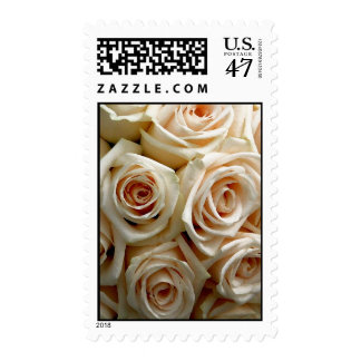 White Rose Bouquet Postage