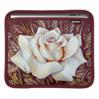 White rose bouquet realistic painting iPad sleeve