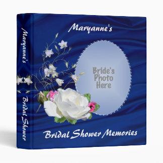 White Rose Bridal Shower Album Vinyl Binder