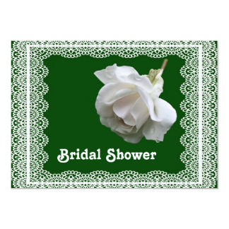 White Rose Bridal Wedding Shower Invitation