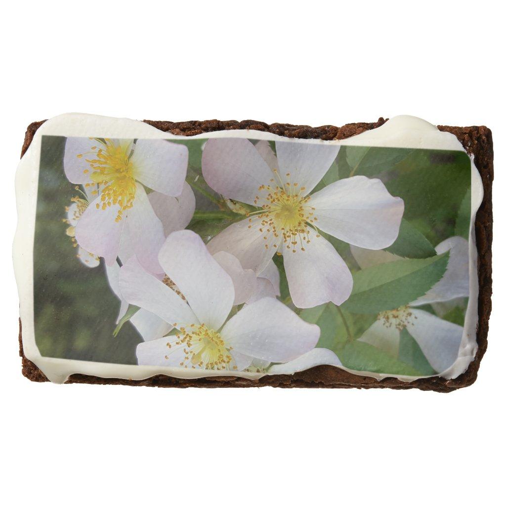 White Rose brownies:wedding, anniversary, graduate Brownie