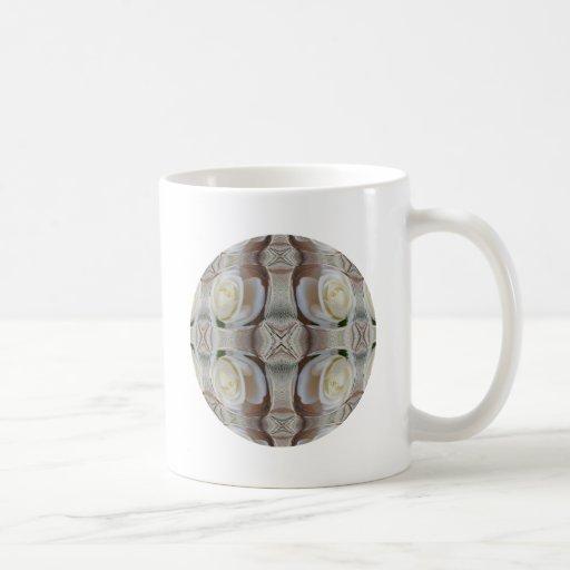 White Rose Bubbles Coffee Mugs