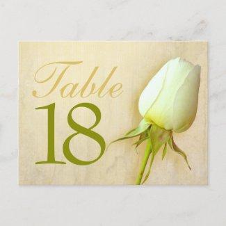 White rose bud wedding table number 10-39 postcard